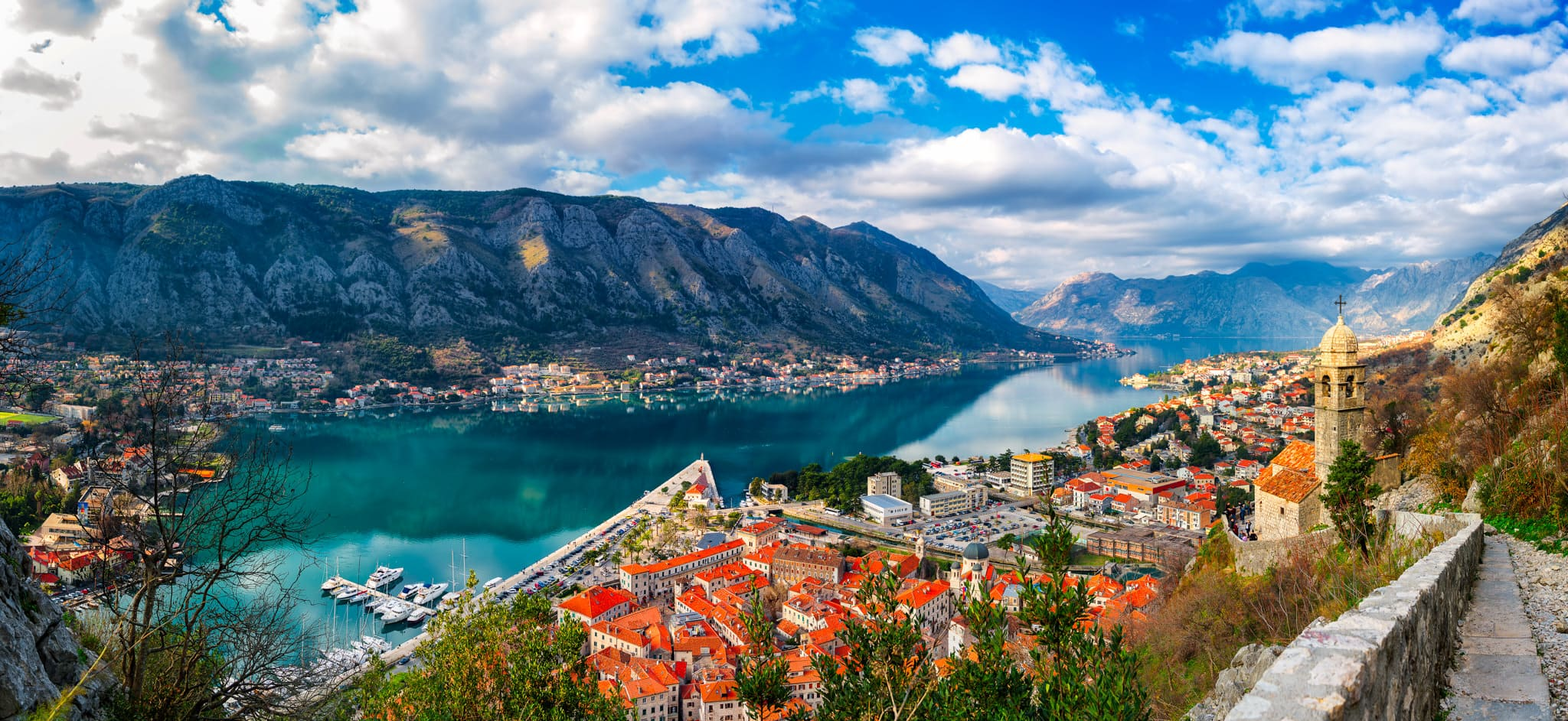 Kotor-Panorama-Daylight-Adriatic-Sea
